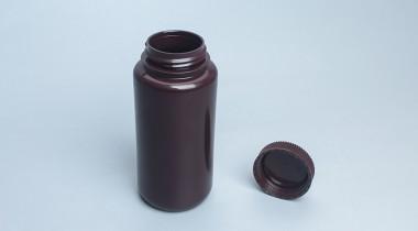 500ml广口圆型塑料瓶棕色