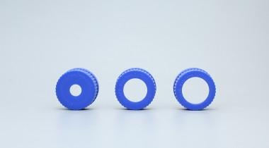 GL45试剂瓶盖蓝色开孔盖