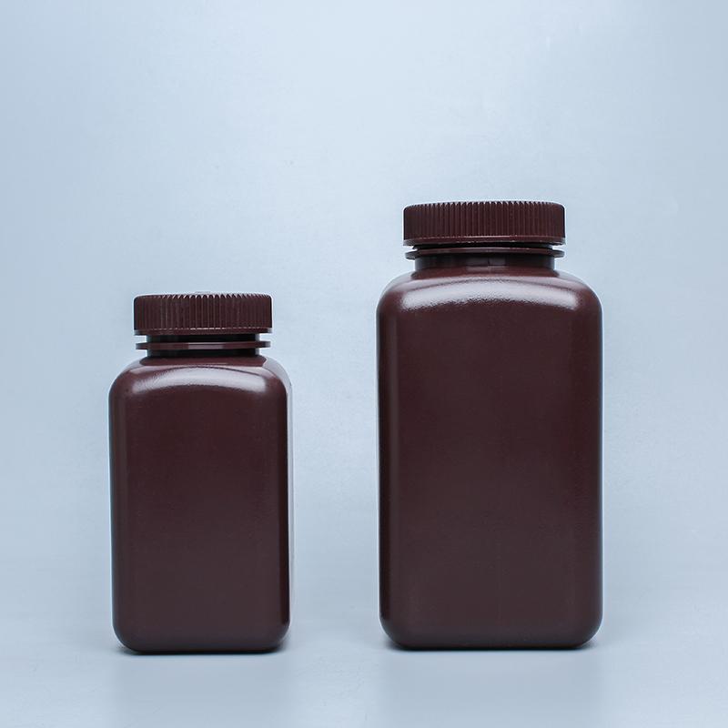 500ml1000ml广口棕色透明方形塑料试剂瓶