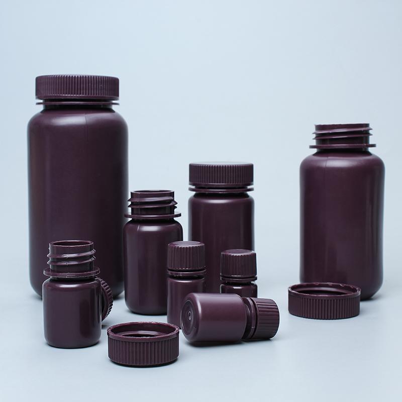 广口圆形试剂瓶棕色透明