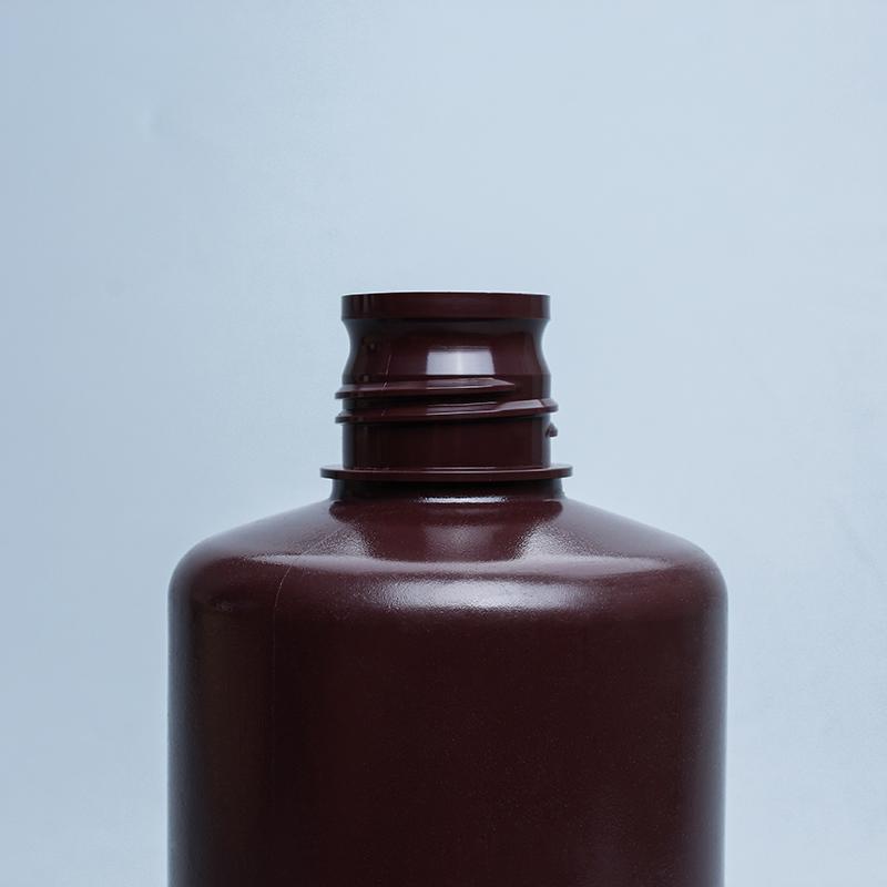 小口瓶圆形塑料瓶透明棕色